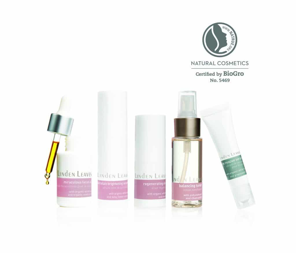 Linden Leaves Skincare Range Image with NATRUE Logo 4 - Copy