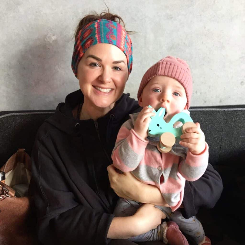 Janelle Brunton-Rennie and her daughter, Sage.